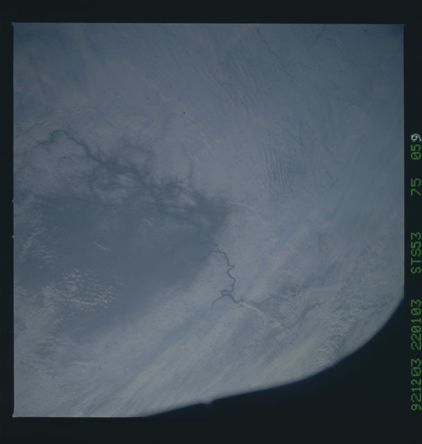 STS053-75-059 - STS-053 - Earth observations