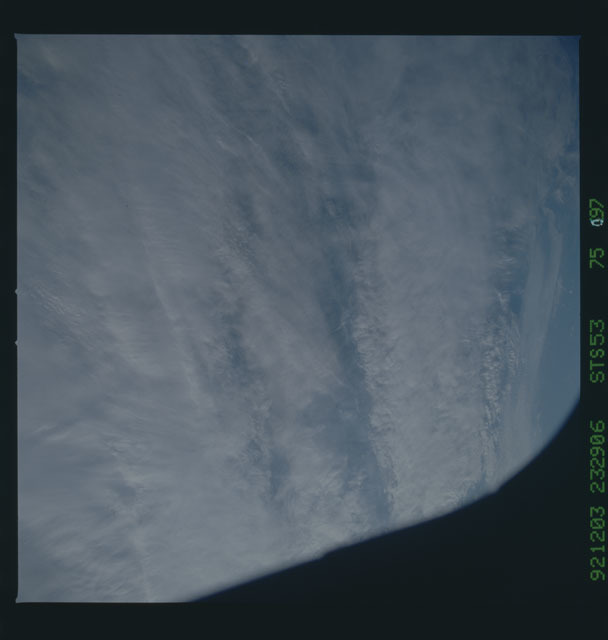 STS053-75-097 - STS-053 - Earth observations