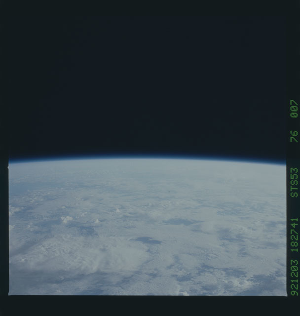STS053-76-007 - STS-053 - Earth observations