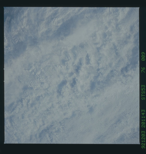 STS053-76-009 - STS-053 - Earth observations