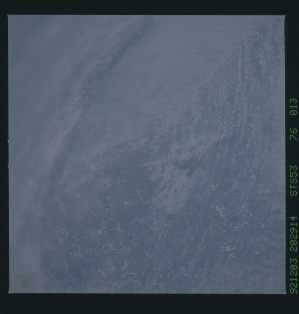STS053-76-013 - STS-053 - Earth observations