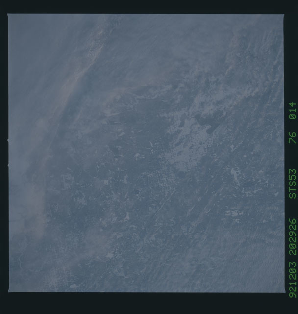 STS053-76-014 - STS-053 - Earth observations