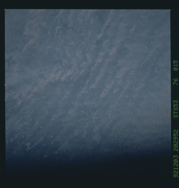 STS053-76-015 - STS-053 - Earth observations