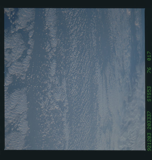 STS053-76-017 - STS-053 - Earth observations