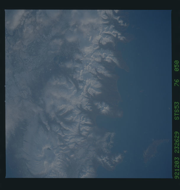 STS053-76-050 - STS-053 - Earth observations
