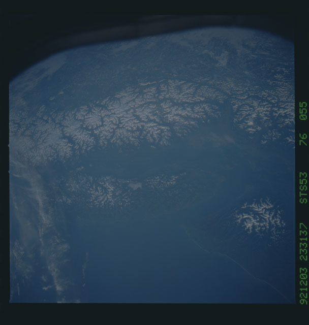 STS053-76-055 - STS-053 - Earth observations