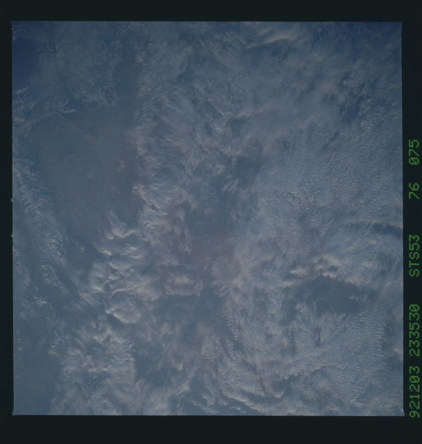 STS053-76-075 - STS-053 - Earth observations