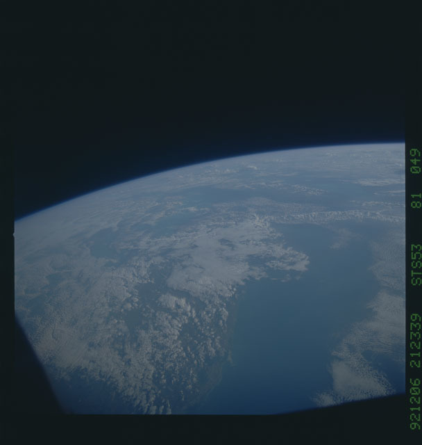 STS053-81-049 - STS-053 - Earth observations
