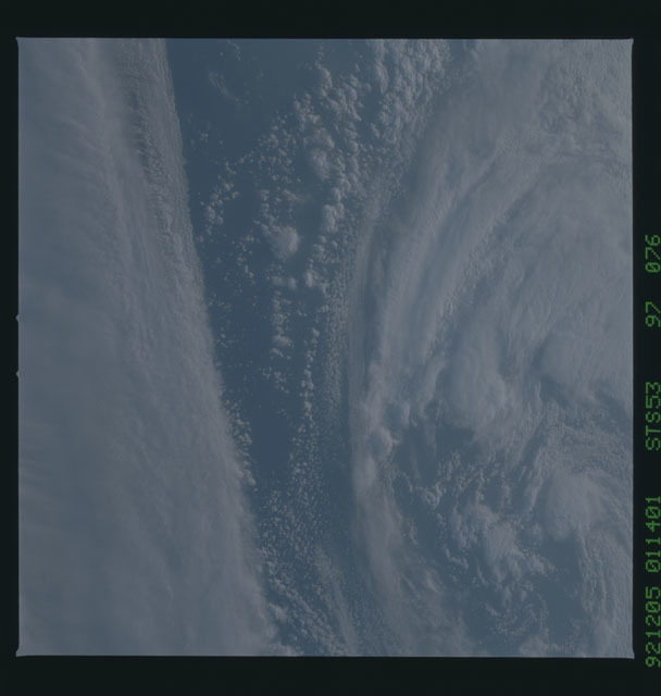 STS053-97-076 - STS-053 - Earth observations