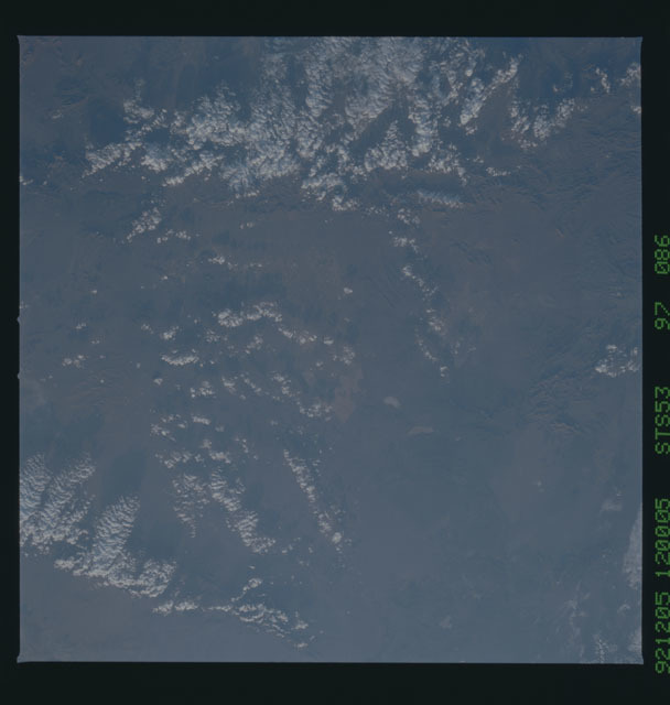 STS053-97-086 - STS-053 - Earth observations