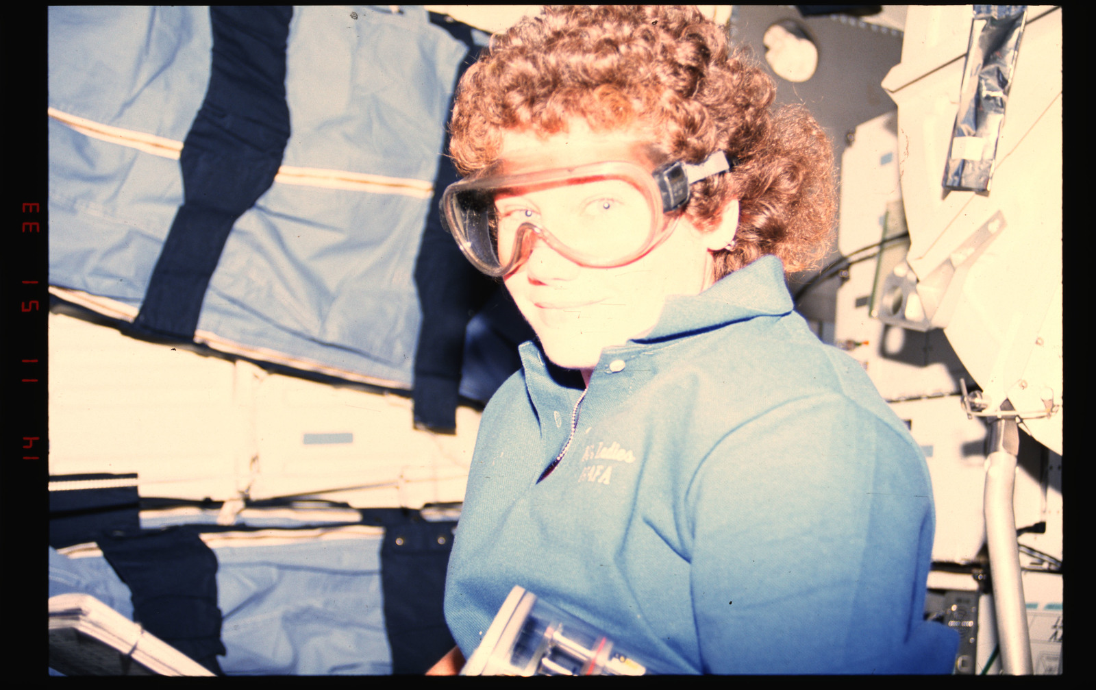 STS054-01-036 - STS-054 - Crewmember in the middeck with Commercial Generic Bioprocessing experiment.