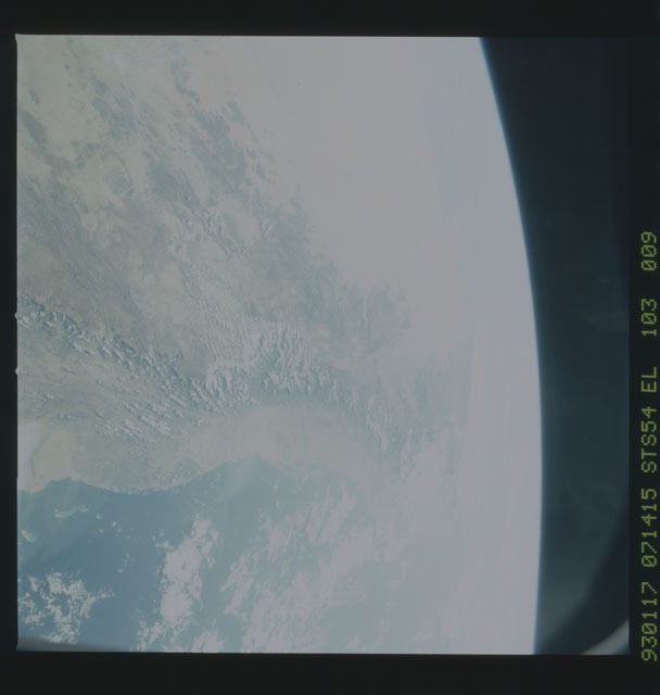 STS054-103-009 - STS-054 - Earth observations