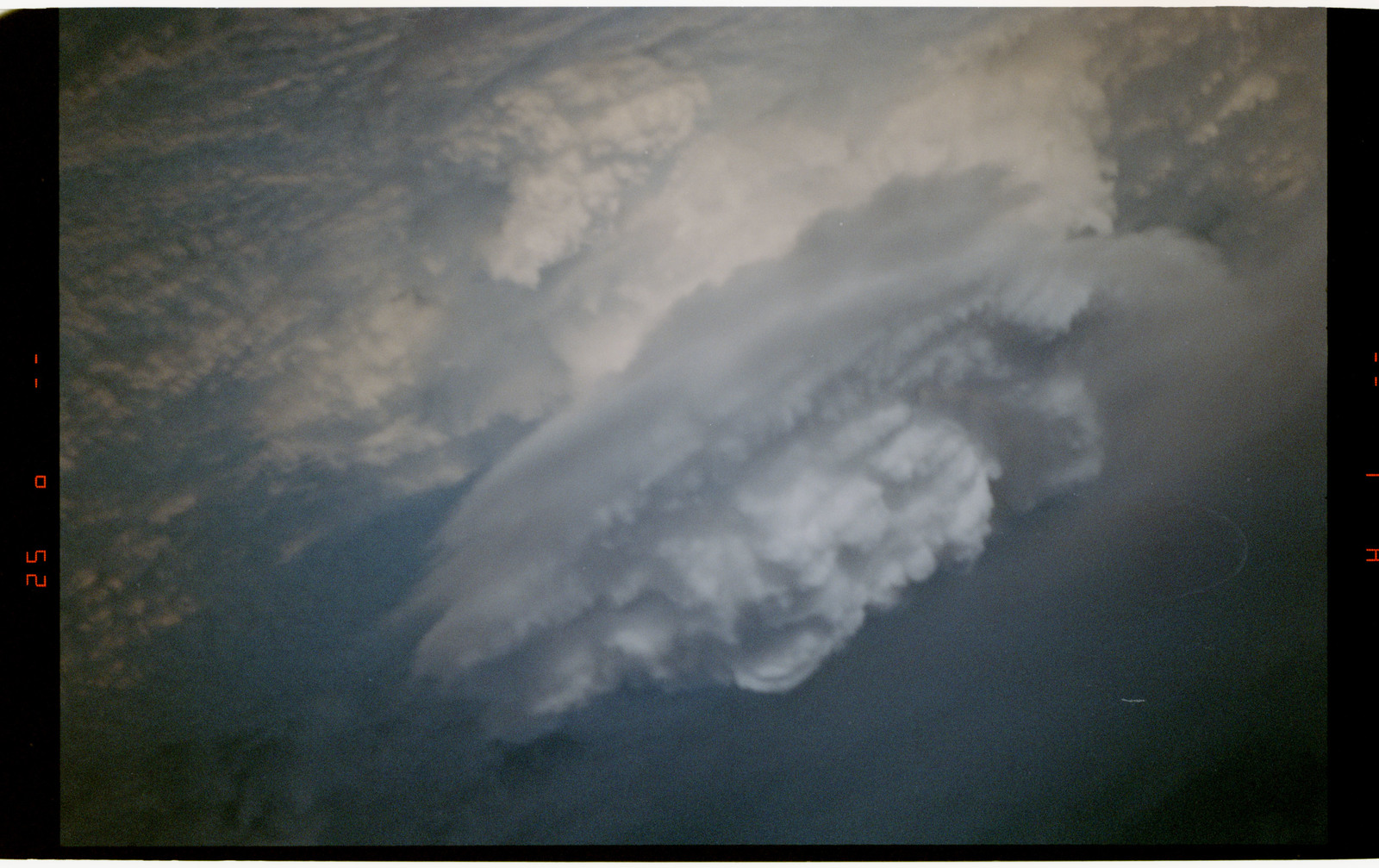 STS054-30-020 - STS-054 - Earth observation view of highlighted heavy cloud cover - location unknown.