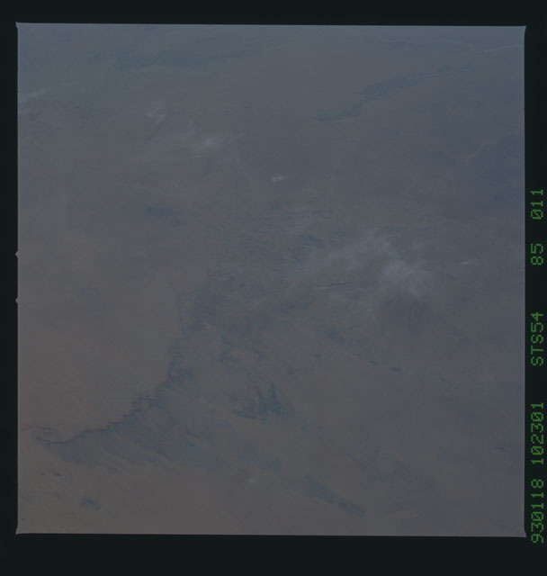STS054-85-011 - STS-054 - Earth observations from Endeavour, Orbiter Vehicle (OV) 105, during STS-54