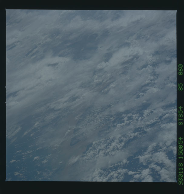 STS054-85-060 - STS-054 - Earth observations from Endeavour, Orbiter Vehicle (OV) 105, during STS-54