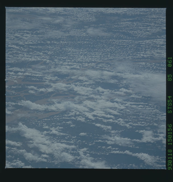 STS054-85-061 - STS-054 - Earth observations from Endeavour, Orbiter Vehicle (OV) 105, during STS-54