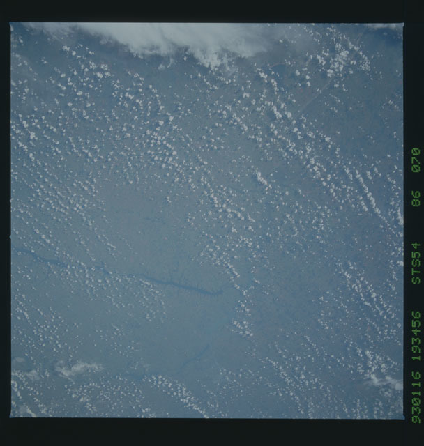 STS054-86-070 - STS-054 - Earth observations from Endeavour, Orbiter Vehicle (OV) 105, during STS-54