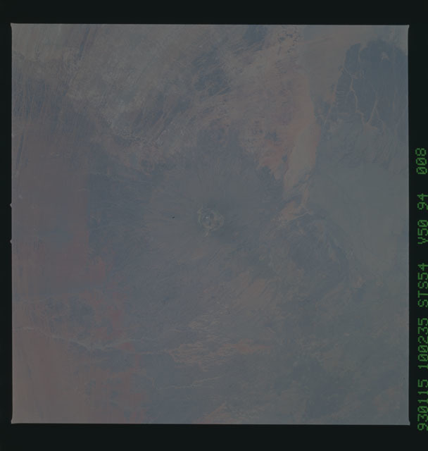 STS054-94-008 - STS-054 - Earth observations