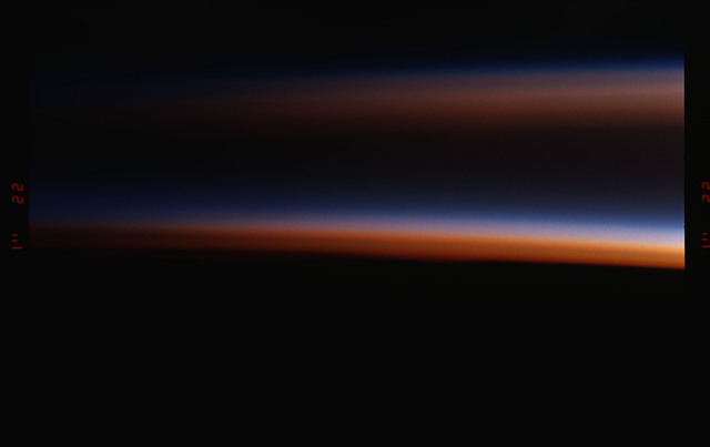 STS055-17-022 - STS-055 - Sunset, Earth Limb