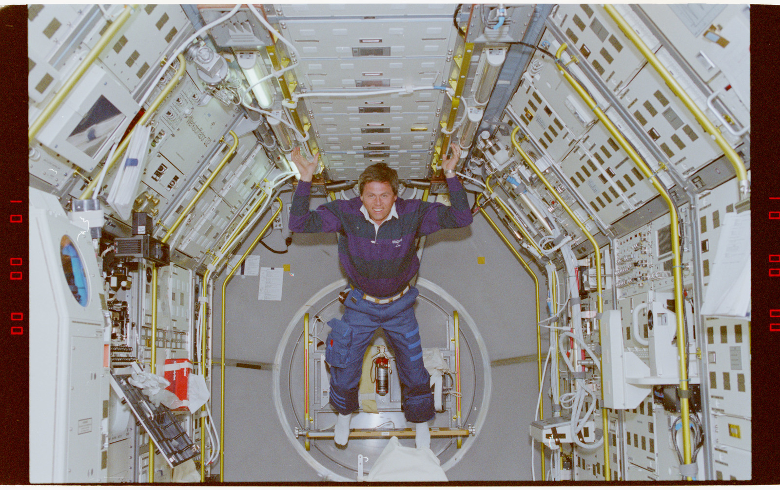 STS055-219-002 - STS-055 - Crewmember in the D-2 Spacelab.