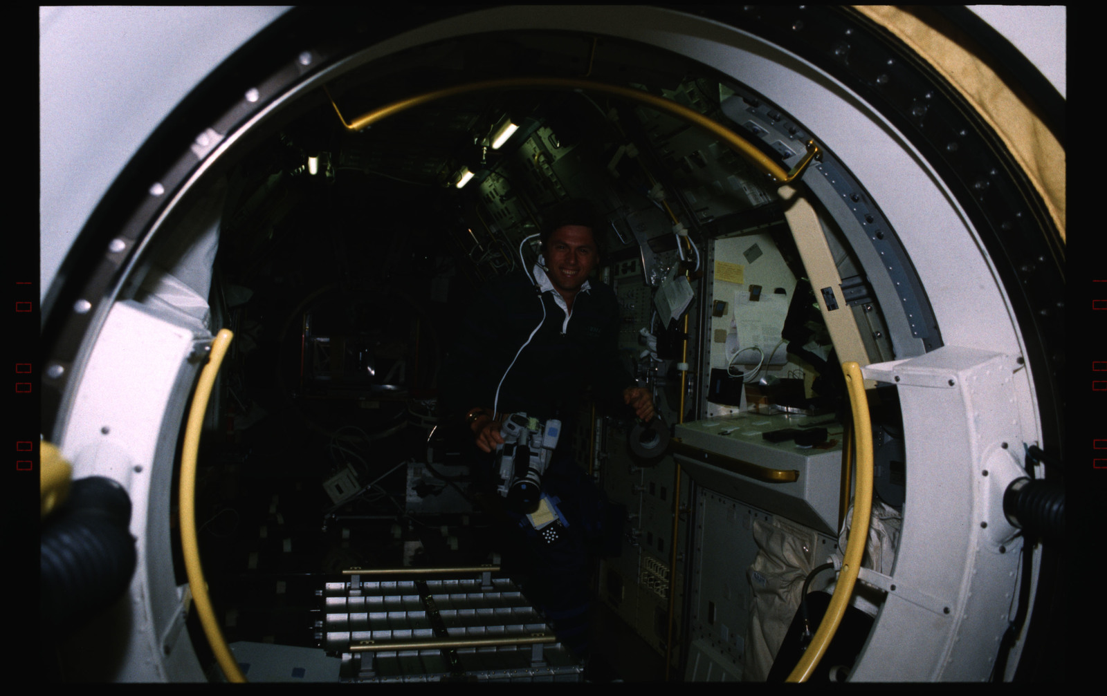 STS055-227-024 - STS-055 - Candid view of a crewmember in the D-2 Spacelab.