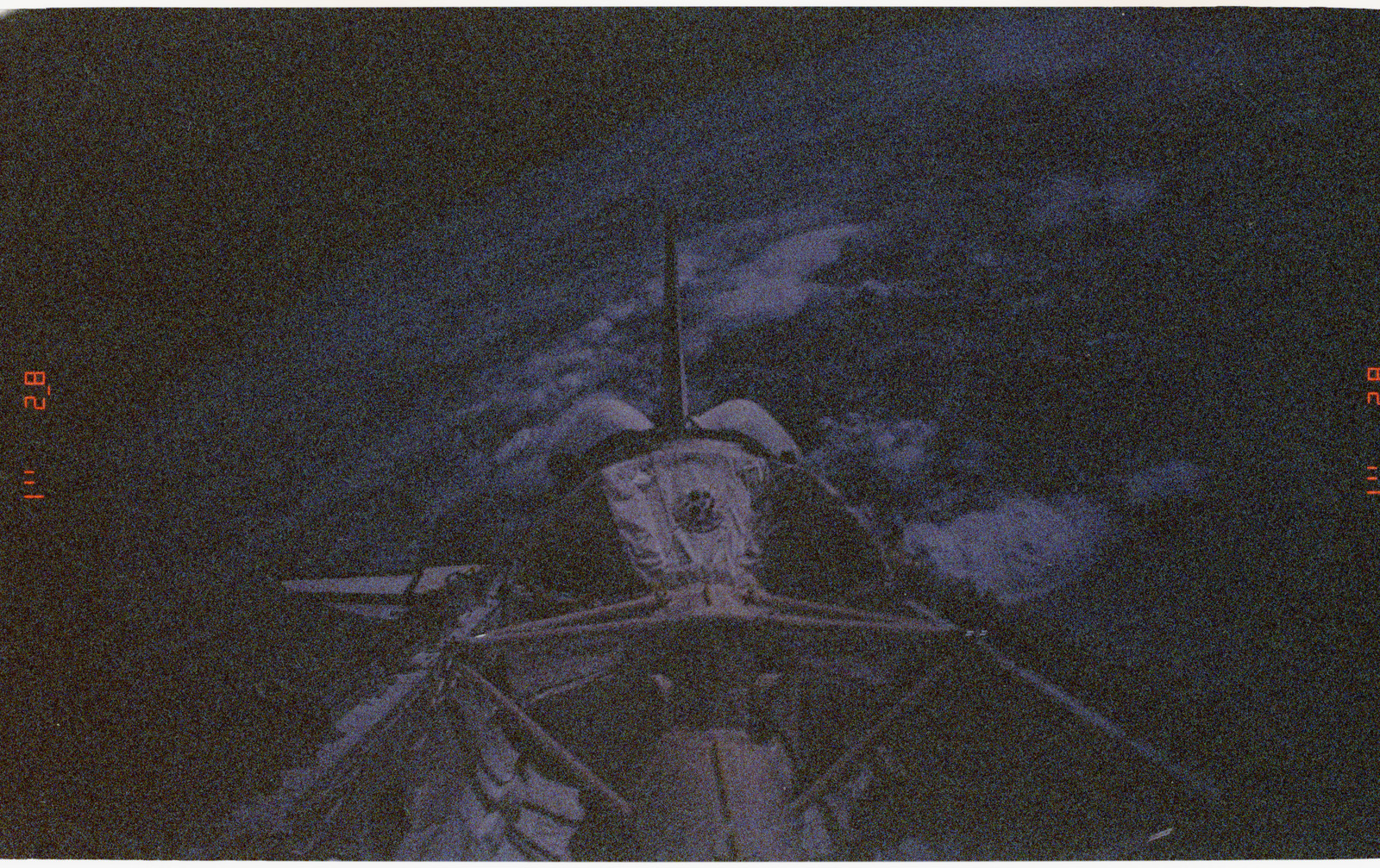STS055-27-005 - STS-055 - Earth Limb, D-2 Spacelab and Payload Bay.