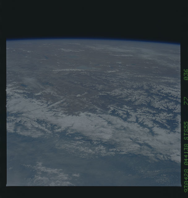 STS055-77-036 - STS-055 - Earth observations taken during STS-55 mission