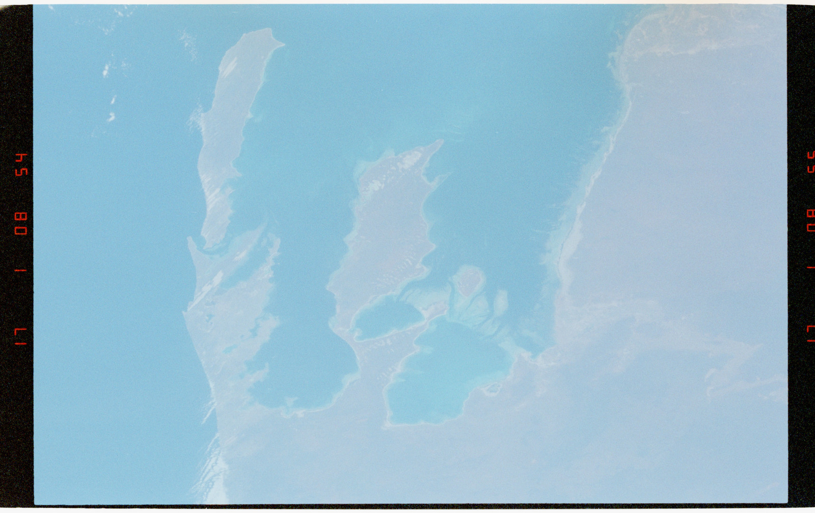 STS056-37-025 - STS-056 - Earth observations views of Shark Bay, Western Australia, Australia.