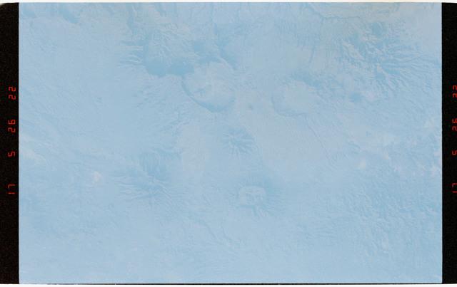 STS056-47-019 - STS-056 - Tibesti Mountains, sand dunes, Sahara Desert, Chad, North Africa.