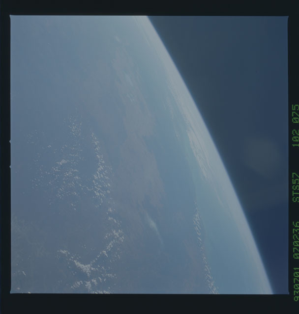 STS057-102-075 - STS-057 - Earth observations taken during STS-57 mission