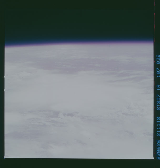 STS057-107-032 - STS-057 - Color IR Earth observations taken during STS-57 mission