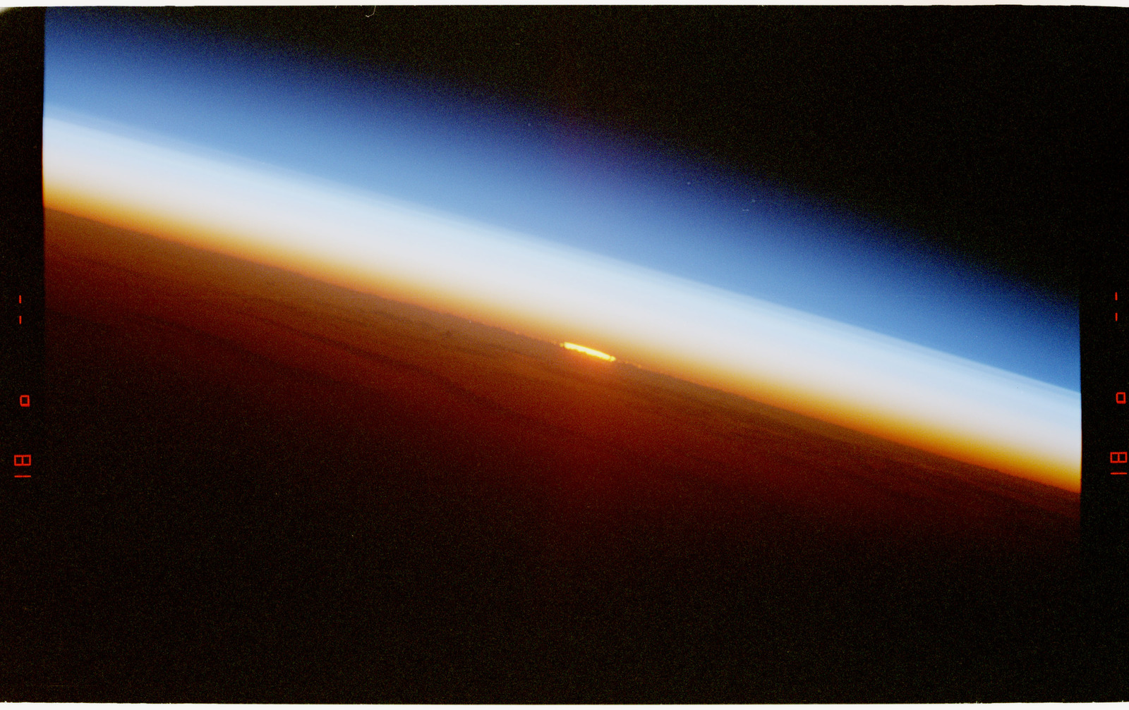 STS057-212-029 - STS-057 - Earth observations views of a sunrise.