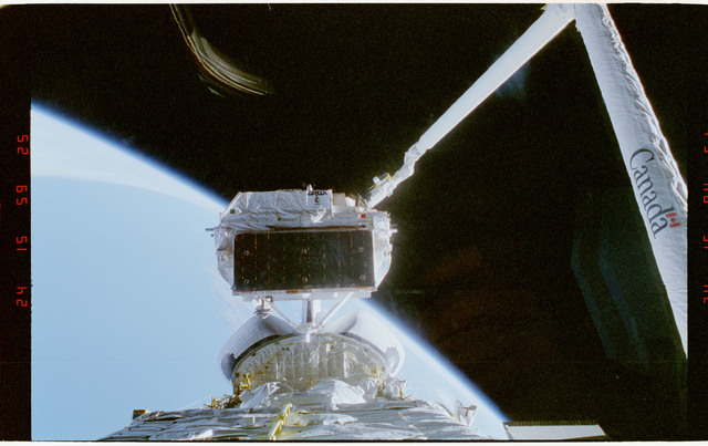 STS057-37-016 - STS-057 - Recovery and docking of the European Space Agency EURECA Satellite.