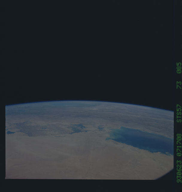 STS057-73-085 - STS-057 - Earth observations during STS-57
