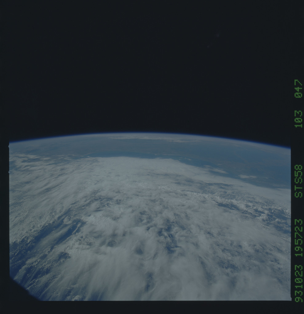 STS058-103-047 - STS-058 - Earth observations during STS-58