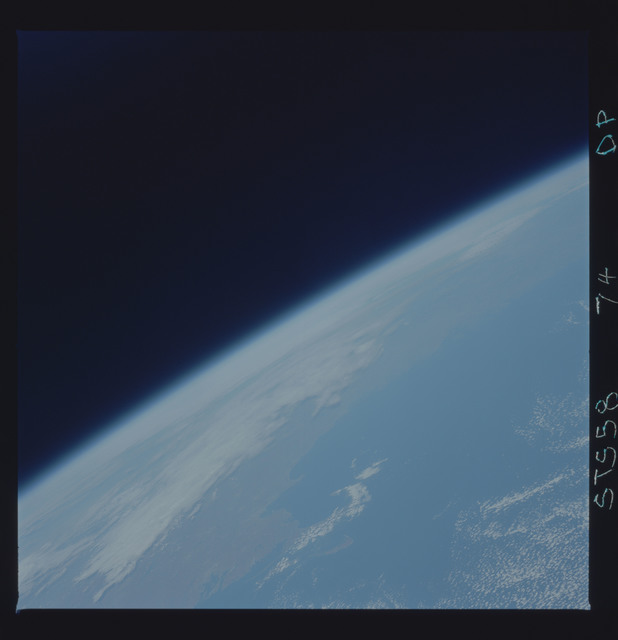 STS058-74-00P - STS-058 - Earth observations during STS-71
