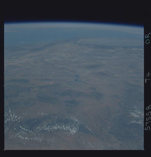 STS058-74-00R - STS-058 - Earth observations during STS-73