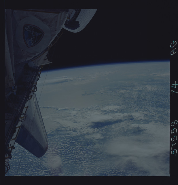 STS058-74-0AG - STS-058 - Earth observations during STS-88