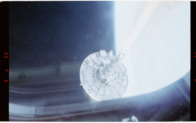 STS060-26-001 - STS-060 - Wake Shield Facility (WSF) on the Discovery's RMS arm