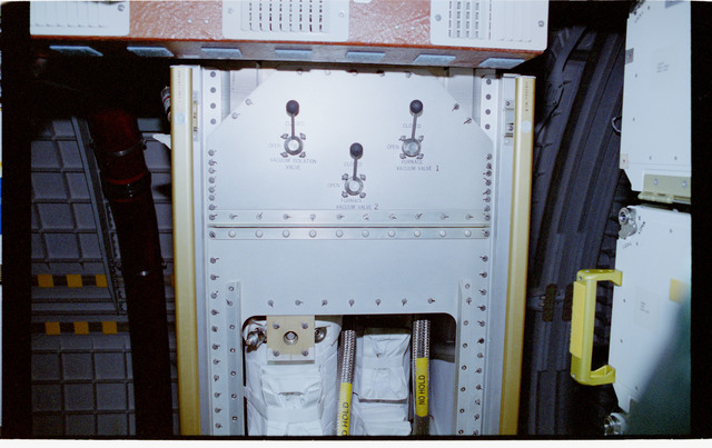 STS060-307-012 - STS-060 - Experiment lockers in the Spacehab module