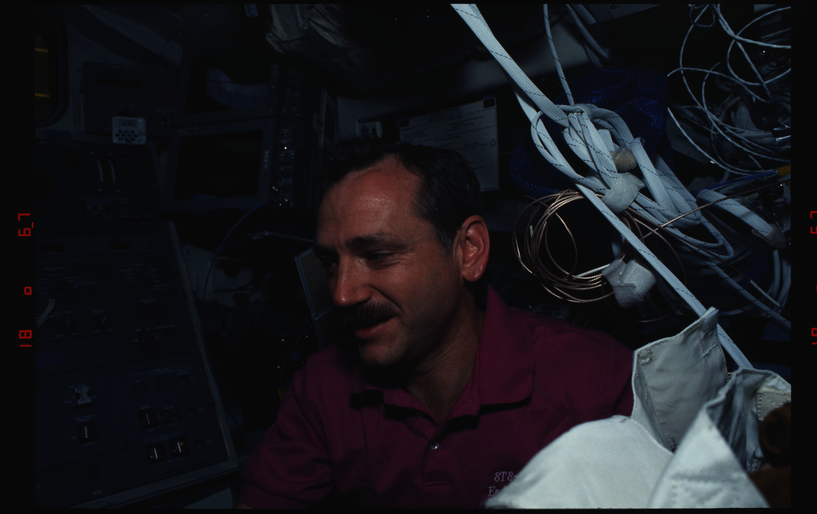 STS061-12-009 - STS-061 - Various views of the STS-61 crew on the Endeavour's flight deck