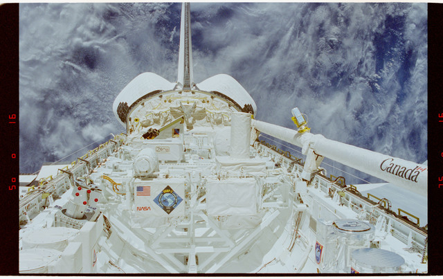 STS062-16-030 - STS-062 - The Dexterous End Effector (DEE) in Columbia's payload bay
