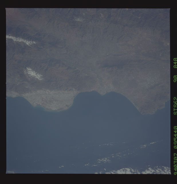 STS062-90-040 - STS-062 - Earth observations from STS-62 flight