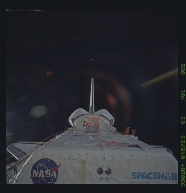 STS063-701-082 - STS-063 - Discovery's payload bay on-orbit