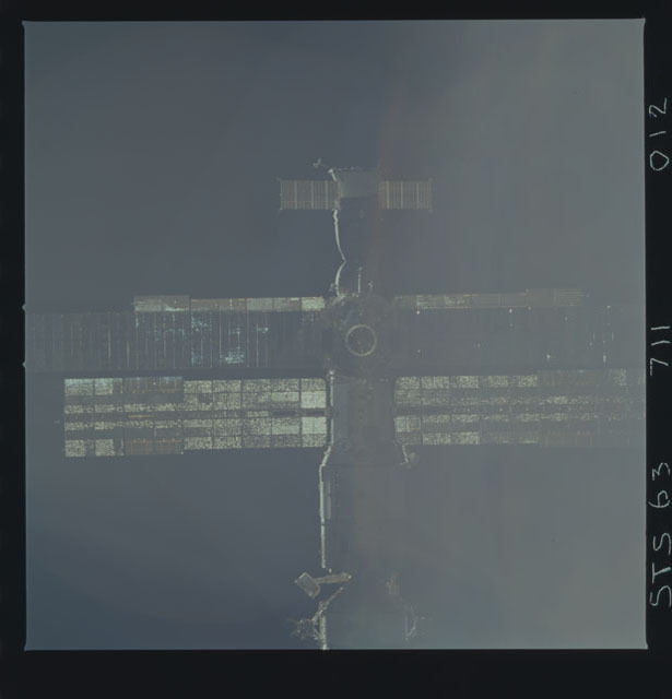 STS063-711-012 - STS-063 - Mir Space Station as viewed from STS-74