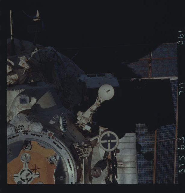 STS063-711-061 - STS-063 - Mir Space Station as viewed from STS-123