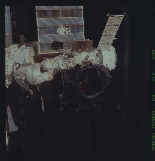 STS063-712-039 - STS-063 - Mir Space Station viewed from STS-92