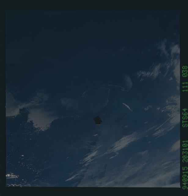 STS064-111-038 - STS-064 - SPARTAN 201 in orbit