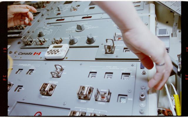 STS064-22-013 - STS-064 - Remote Manipulator System controls