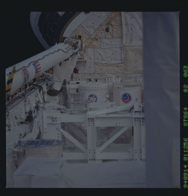STS064-82-063 - STS-064 - Getaway Special (GAS) canister G-254 on Discovery's payload bay